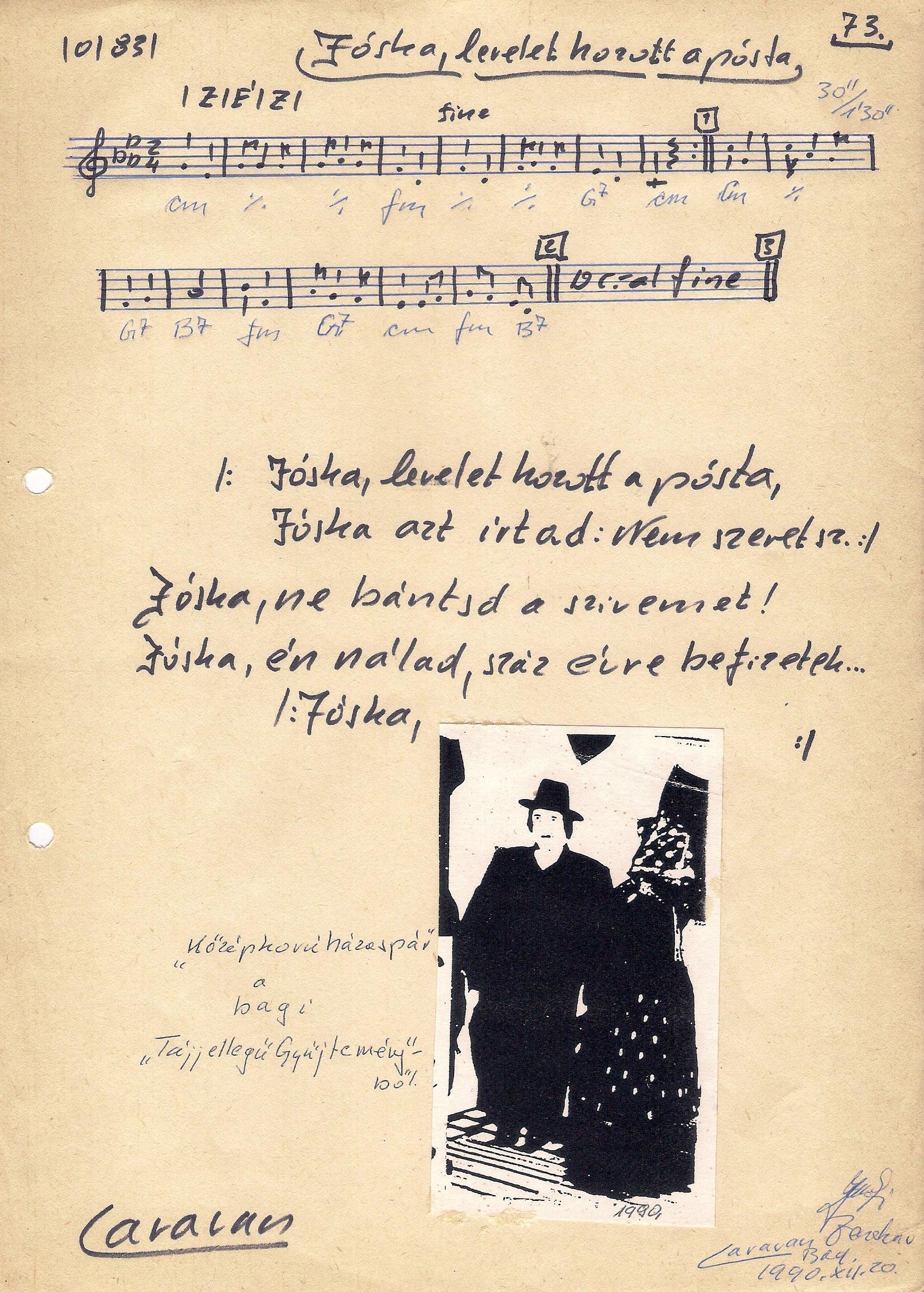 73. Jóska, levelet hozott